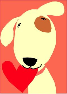 card collection I love you dog  sweet pup with heart от LizzyClara