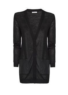 MANGO - Leather pockets cardigan