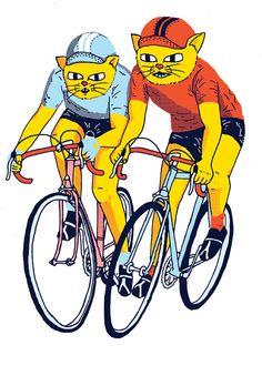 Alley Cat Bike Race Illustration on Behance