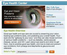 web MD | WebMD Eye Care Center: Eye Health Overview | Kim Truman Fitness