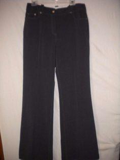 "Alberto Makali Size 12 X 32"" Inseam Charcoal 3 Pockets Women Career Dress Pants #AlbertoMakali #DressPants"