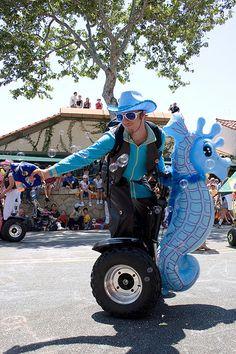 Segway cowboy seahorse