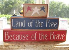 Summer Decor-Land Of The Free Because Of The by AlwaysInSeason
