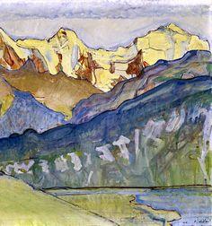 FERDINAND HODLER (1853-1918) Eiger, Mönch und Jungfrau von Beatenberg aus, 1910