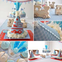 Trains, Plaid Print Birthday Party Ideas   Photo 1 of 9   Catch My Party