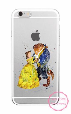 Beauty and the Beast Soft Case Cartoon Cover for iPhone 5 5s 6 6s SE 7 7Plus