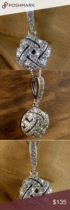 """SPARKLING GEMS!! WHITE SAPPHIRES SET IN 925 SILVER NEW SPARKLING 2TCW GENUINE WHITE SAPPHIRES IN 925 STERLING SILVER!! THIS REALLY DOES SPARKLE WITH CLASS!! PENDANT IS APPROX 1 X .5"""" CHAIN IS APPROX 18"""" WEIGHS 2 GRAMS includes velvet gift box Jewelry Necklaces"""
