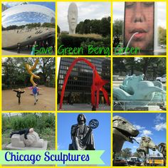 Save Green Being Green: Wordless Wednesday: Millennium Park and Sculptures in Chicago