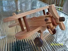 Large Airplane Bi Plane Wooden Beautifully detailed  by mikebtoys, $39.95