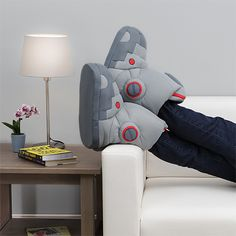 These Giant Robot Slippers Include Sound Effects When You Walk
