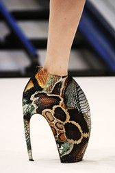 WOW How Outrageous.....Don't intend to walk in these GAGAs by Alexander McQueen Reptile Shoes