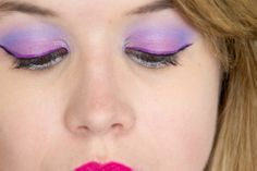 Purple makeup made with the brand Lime Crime! #pearl-ple #ribbonesque #aquatenia #antoinette #liner #orchidaceous