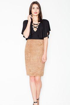 Short sleeves women's bodysuit, black