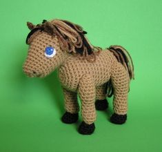 Horse crochet.   I made one one of these once as a Christmas gift for my niece.  Surprisingly easy project.