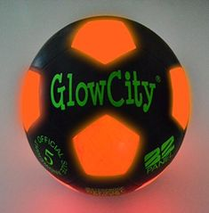 Light Up LED Soccer Ball Black Limited Edition