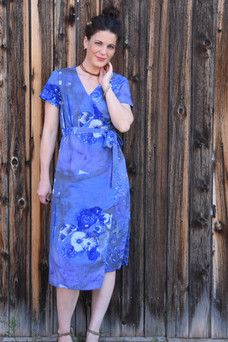Indiesew.com | Highlands Wrap Dress by Allie Olson creation by Leslie M.