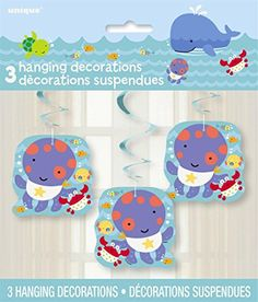 26 Hanging Under the Sea Decorations 3ct -- Click image for more details.