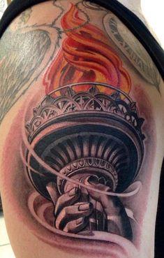 Statue of Liberty Torch   Tattoo.com