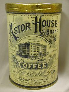 Found an old Coffee Tin. Coffee Tin, I Love Coffee, Coffee Drinks, Coffee Shop, Coffee Cups, House Coffee, Coffee Maker, Vintage Packaging, Coffee Packaging