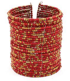 Red Hoop Bracelet