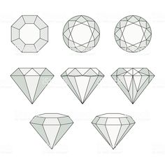 Set of isolated gem stones.Vector set of diamond design elements. Set of isolated gem stones.Vector set of diamond design elements. Set of isolated ge. Icon Set, Illustration Tutorial, Diamond Drawing, Diamond Doodle, Gem Drawing, Page Decoration, Diamond Vector, Diamond Tattoos, Art Nouveau Design