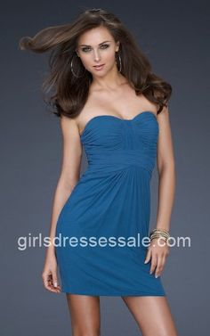 Strapless Chic Rhinestone Encrusted Teal Short Tight Homecoming Dresses