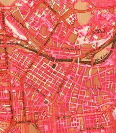 Mapa del Centro de Lima: tinta sobre papel