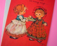 Weinlese-Stempel-MARY HAMILTON Valentinsgruß-Karte von chichiANDklaus