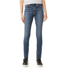 Rag & Bone/JEAN Dive Skinny Jeans ($220) ❤ liked on Polyvore featuring jeans, eddy, blue jeans, zipper jeans, skinny fit jeans, denim skinny jeans and skinny leg jeans