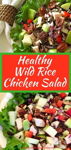 Healthy Wild Rice Chicken Salad Is A Nutritious And Delicious Cold Wild Rice Sal. Rice Salad Recipes, Healthy Salad Recipes, Easy Recipes, Granny Smith, Roasted Chicken, Chicken Salad, Healthy Chicken, Wild Rice Salad, Healthy Protein Snacks