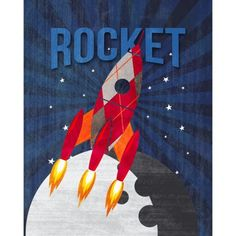Wall Canvas - Rocket 16x20