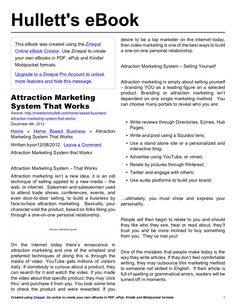attraction-marketing-system-that-works by Hullett, LLC via Slideshare -- My Pdf Slide share doc. wanted to share with you. :)