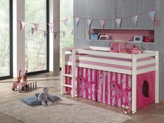 Pat din lemn de pin pentru copii Pino White Poney #kids #homedecor Toy Chest, Storage Chest, Toddler Bed, Cabinet, Room, Kids, Inspiration, Furniture, Home Decor