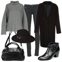 Cappotto e cappello  outfit donna Basic per tutti i giorni  e5b5c7c0b8c06