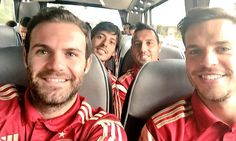 Cesar Azpilicueta tweets picture with Juan Mata, Santi Cazorla and David Silva as Premier League's Spanish stars prepare for Slovakia test...