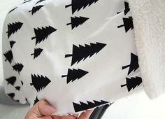 Scandinavian Nordic Style Pine Tree Pattern Wide Width Cotton Fabric AW85