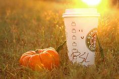 pumpkin spice latte #starbucks