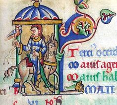 Shaftesbury Psalter f.5 British Library Calendar page for May detail.  Dated to c. 1130-40.