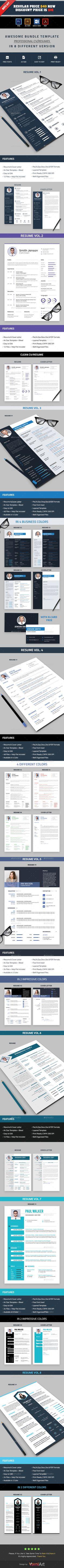 Resumecv Bundle Resume Bundle 3 in 1