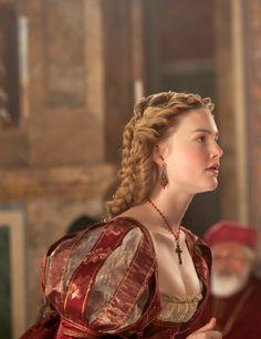 Holliday Grainger as Lucrezia Borgia inThe Borgias (TV Series, 2012).