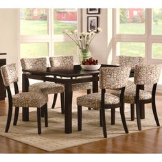 Pilgrim Modern Design Cappuccino Dining Set with Floating Table Top