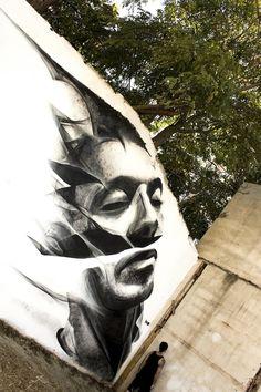 By Yiorgos P. Kavounis & iNO in Athens, Greece - Street Art Utopia