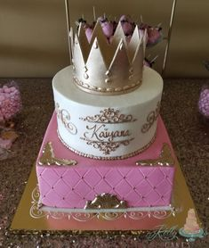 """Custom """"cottage foods"""" cake studio offering one on one planning, delicious flavors, and amazing designs. Baby Shower Princess, Pink Princess, Baby Shower Cakes, Cake Recipes, Desserts, Beautiful, Food, Cakes Baby Showers, Tailgate Desserts"""