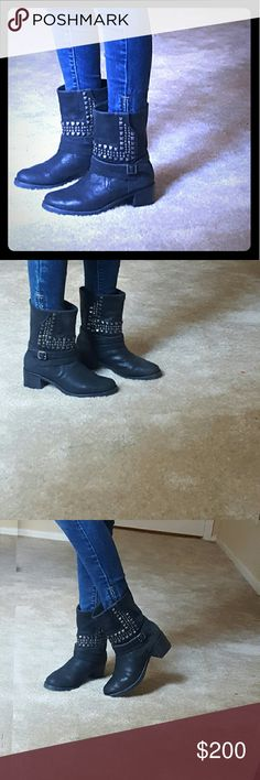 Vince camuto add. Pics Leather boots, worn a few times like new, great condition Vince Camuto Shoes Combat & Moto Boots