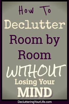 Declutter Your Home Checklist By Room and tips for decluttering your home - tips, tricks and ideas to declutter your home even if feeling overwhelmed - here's how to START decrapifying your house room by room to finally get organized at home Getting Organized At Home, Getting Rid Of Clutter, House Cleaning Tips, Cleaning Hacks, Cleaning Schedules, Speed Cleaning, Cleaning Checklist, Cleaning Solutions, Declutter Your Home
