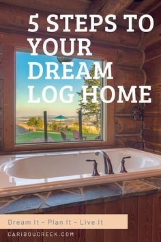 When you have a dream to build a log home, it can be hard to know where to start and how to proceed. After over 30 years, we have helped hundreds of folks attain their dream by walking them through the process of planning and building a log home. Read more to discover 5 steps you can take to realize to build your dream log home. #loghomedesign #handcraftedloghome #customloghome #Cariboucreekloghomes