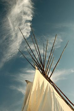 teepee against the sky, via Flickr.