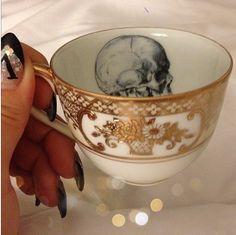 Skull tea cup
