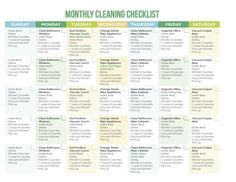 Of The Best Free Printable Cleaning Schedules  Cleaning