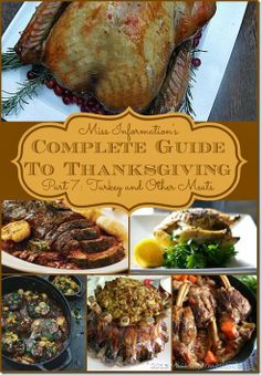 Miss Information's Complete Guide to Thanksgiving Part 7 Turkey and Other Meats / The best turkey you will EVER eat Brined / #turkey #recipe...